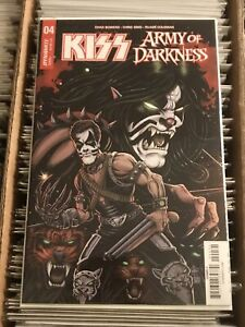 KISS ARMY OF DARKNESS #4 KEN HAESER VARIANT COVER C 2018 peter criss catman