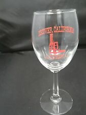 Discover California Collectible White Wine Glass Old Sacromento, Ca