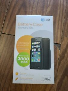 NEW - At&T Battery Case Charger  For iPhone 5/5s -- Black 2000 mAh
