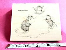 house mouse rubber stamps Ice Cream Crazy Hmr118