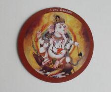 Hindu Buddhist Round Magnet - Lord Ganesh - 7.3cm Diameter