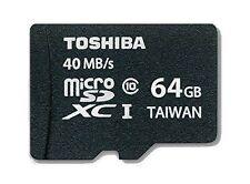 Toshiba Handy-Speicherkarten mit 64GB Speicherkapazität