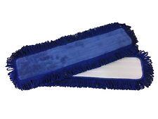 "5 Pack 24"" Microfiber Flat Dust Mop Pad w Fringe, 400GSM, Professional Grade"
