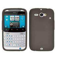 AMZER GREY SOFT SILICONE SKIN GEL CASE COVER FOR ATT HTC CHACHA/ STATUS