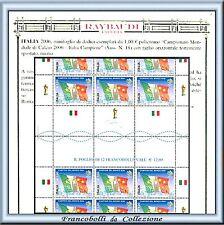FAI TU IL PREZZO 2006 Italia Campione Mondo Foglietto con taglio Varietà Cert **