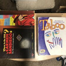 Board Game Bundle: Where in the USA is Carmen Sandiego And Taboo