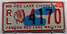 "USA Nummernschild Minnesota ""Red Lake Chippewa Indian"" mit Indianhead. 8209."