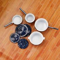 4Pcs Miniatur Puppenhaus Kochgeschirr Töpfe Pfannen Set für 1:12 Maßstab C7V3