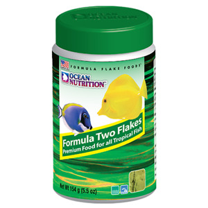 Tropical Fish Food Ocean Nutrition Premium FormuTwo Flakes 5.5oz Made in USA