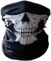 Foulard tube tour de cou masque - tête de mort Skull moto vélo bandana cagoule