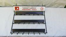 Vintage VERMONT AMERICAN THREADING TOOLS Metal Display Rack / Nicer Condition