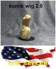 ❶❶Kumik 1/6 Female Blonde Hair Wig 2.0 v. for Head Sculpt Hot Toys Custom Body❶❶