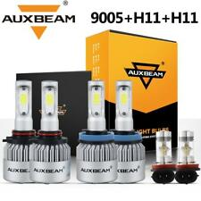 AUXBEAM H11 9005 H11 Combo LED Headlight Bulbs High Low Beam Fog Lights 6000K
