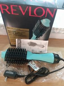 Revlon One Step Hair Dryer Volumizer Brush Teal Pro Collection Straighten Volume