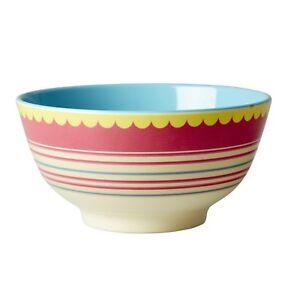 RICE Melamine bowl in red stripe print