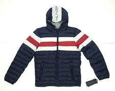 Tommy Hilfiger Hooded Down Puffer Jacket Navy Blue Size Small