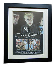 GREEN DAY+Stuck With Me+POSTER+AD+RARE ORIGINAL 1995+FRAMED+EXPRESS GLOBAL SHIP
