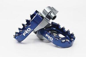 SALE FRO Systems Motocross MX Dirt Bike Billet Footpegs Foot rest - Blue Yamaha