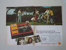 advertising Pubblicità 1971 KODAK INSTAMATIC 133 X e VESPA