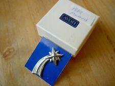 """Iob 1989 Avon Rep Award Gold Fill Rising Shooting Star Silver Tac Pin -1.25"""""""