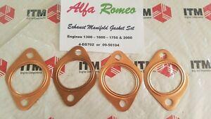 Alfa Romeo (4) Exhaust Manifold Gaskets 1300 -1600 - 1750 - 2000cc 1956-1994