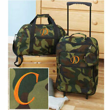 Luggage for Kids Boys Sets Small Rolling Suitcase Duffel Bag Camo The Letter C