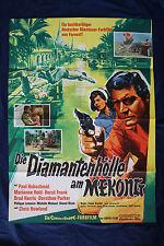 orig Kino Plakat - Die Diamantenhölle am Mekong 1964 Paul Hubschmid Brad Harris