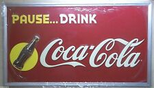 Coca Cola Sunrise Sign Advertising Limited Ed Embossed Coke Wall Deco Free Ship