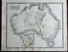 Australia British Colonies New South Wales Swan River Tasmania 1846 scarce map