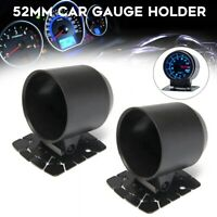 Pair 2'' 52mm Boost Oil Water Temp Racing Single Gauge Holder Dash Mount Cup
