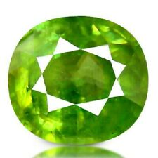 3.84 CTS 9x9 MM Excellent Fire Sparkling Preety Green Sphene Loose Gemstone