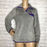 Patagonia retool snap t fleece pullover small S gray