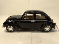 Volkswagen Beetle Bug In A Black 1:24 Scale Diecast From Welly dc2516