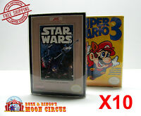 10x NINTENDO NES - CLEAR PROTECTIVE GAME BOX SLEEVE CASE - ARCHIVAL QUALITY