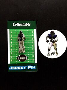 New York Giants Lawrence Taylor jersey lapel pin & vinyl sticker-Collectibles