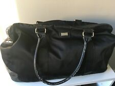 MORRISSEY Black Leather-Combo Duffel Bag - Larger Sized