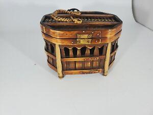 Beautiful Wooden Tinket Basket