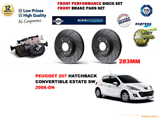FOR PEUGEOT 207 TURBO 1.6 16V 06-ON FRONT PERFORMANCE BRAKE DISCS SET + PADS KIT