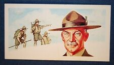 BOY SCOUTS  Founder  Lord Baden-Powell   Vintage Colour Card