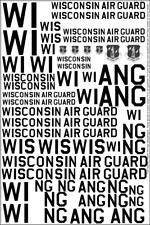 Wisconsin Air Guard Decals 1/32 1/48 1/72 F-16 C-97 P-51 Kc-135 C-47 F-89 Ang