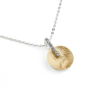 Gold Plated Disk with Diamanté Bar Chain Necklace from Timeless Season