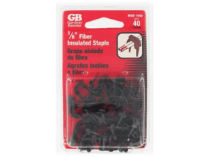 """Gardner Bender 1/8"""" Brown Low Voltage Insulated CABLE STAPLE Wire MSB-1540 40 pk"""