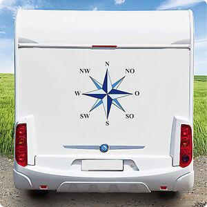 Aufkleber Wohnmobil Wohnwagen KFZ Windrose Kompass Maritim Caravan Boot 50 cm