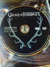 Game of Thrones Season 1 disc 3 Replacement Disc DVD ONLY