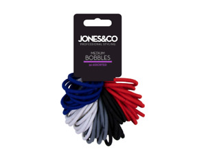 50 Quality Thick Endless Snag Free Hair Elastics Bobbles Bands Ponies Mixed Pack
