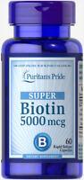 Puritan's Pride Biotin 5000 mcg - 60 Capsules