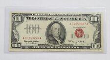 1966  RED SEAL U.S $100 BANKNOTE
