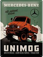 Mercedes Benz Todo Rueda Conducir Unimog Relieve Acero Signo 400mm x 300mm (Na )