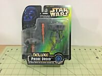 Vintage 1996 Star Wars green Deluxe Probe Droid figure, free shipping, 69677