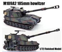1:72 US M109A2 155mm Self-Propelled Howitzer Tank Finished Model Hot Collection
